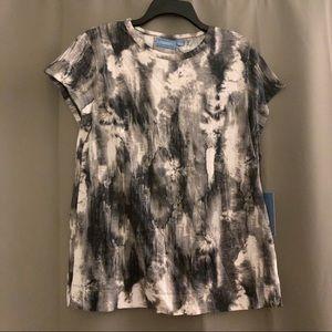 SIMPLY VERA Vera Wang Short Sleeve Tie Dye T L NWT